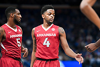 NWA Democrat-Gazette/CHARLIE KAIJO Arkansas Razorbacks guard Daryl Macon (4) shoots a free throw during the Southeastern Conference Men's Basketball Tournament semifinals, Saturday, March 10, 2018 at Scottrade Center in St. Louis, Mo. The Tennessee Volunteers knocked off the Arkansas Razorbacks 84-66
