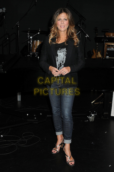 Rita Wilson<br /> The Shakespeare Center of Los Angeles' 23rd Annual Simply Shakespeare held at The Broad Stage, Santa Monica, California, USA.<br /> September 25th, 2013<br /> full length black shirt blazer jeans denim<br /> CAP/ADM/BP<br /> &copy;Byron Purvis/AdMedia/Capital Pictures