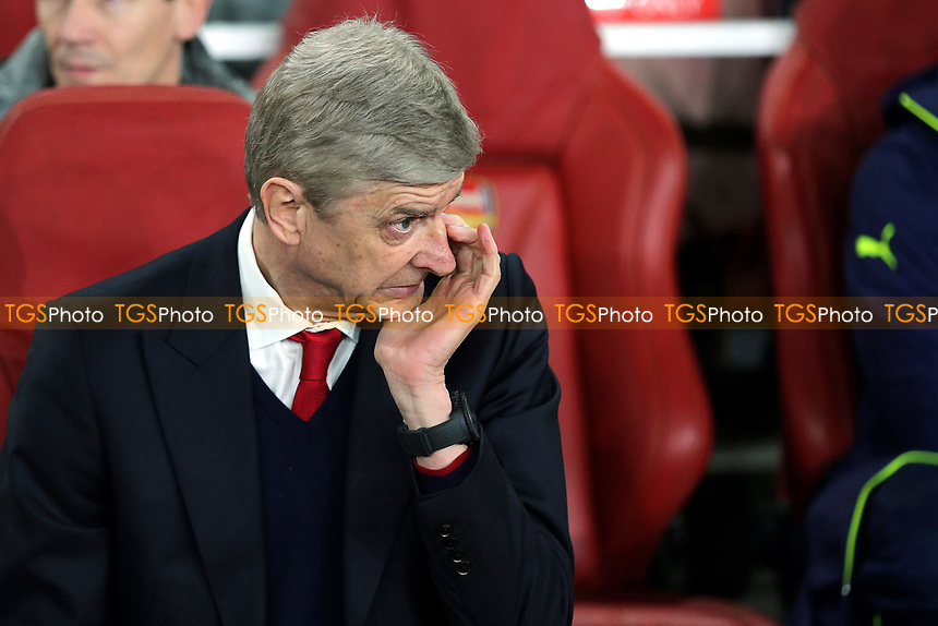 Arsenal Manager, Arsene Wenger during Arsenal vs FC Bayern Munich, UEFA Champions League Football at the Emirates Stadium on 7th March 2017