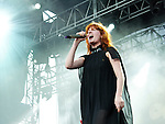 Florence Welch of Florence and the Machine performs during the 2010 Voodoo Experience in New Orleans, Louisiana.