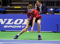 Rotterdam, Netherlands, December 20, 2015,  Topsport Centrum, Lotto NK Tennis, KNLTB, Wheelchait womans single final: Ballboy<br /> Photo: Tennisimages/Henk Koster