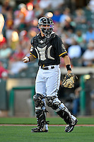 Anthony Bemboom (36) of the Salt Lake Bees heads to the mound during the game against the Tacoma Rainiers in Pacific Coast League action at Smith's Ballpark on July 22, 2016 in Salt Lake City, Utah. The Rainiers defeated the Bees 8-3. (Stephen Smith/Four Seam Images)
