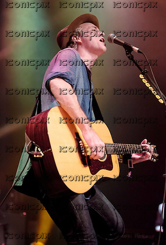 TRAVIS - vocalist Fran Healy performing live at The Roundhouse London UK - 24 October 2013.  Photo credit: Iain Reid/IconicPix