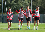 Billy Sharp of Sheffield Utd, Kieron Freeman of Sheffield Utd, Chris Hussey of Sheffield Utd, Paul Coutts of Sheffield Utd during the Sheffield Utd training session at the Shirecliffe Training Complex , Sheffield. Picture date: September 29th, 2016. Pic Simon Bellis/Sportimage