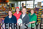 The staff from Foley's Spa rExpress Killorglin with their 5 Star award l-r: Michelle Clifford, Lina Narkeviciene, Paul Murphy and Geraldine O'Sullivan