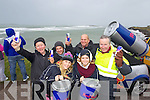 Pictured at the Red Bull Storm Chase windsurfing competition at the Maherees on Monday, ront l-r: Dani Maher (Red Bull) Heather Mulligan. Back l-r: Michael Spillane, Jeremy Owen, Jamie Knox and Tom Spillane (Maharees, Castlegregory).