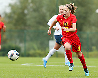 20191101 - Tubize: Belgian Dounia F Touh pictured during the international friendly match between Red Flames U16 (Belgium) and Norway U16 on 1 November 2019 at Belgian Football Centre, Tubize. PHOTO:  SPORTPIX.BE   SEVIL OKTEM