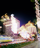 CHINA, Macau, Asia, Casino Lisboa at night, blurred