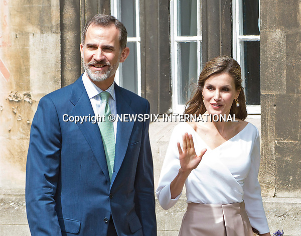 14.07.2017; Oxford,UK: KING FELIPE AND QUEEN LETIZIA OF SPAIN<br /> visit Oxford the city of dreaming spires.<br /> On the last day of their 3-day Sate Visit to the UK they visited Oxford University&rsquo;s Weston Library and Exeter College.<br /> Picture show: Queen Letizia and King Felipe visiting Exeter Collge.<br /> Mandatory Photo Credit: &copy;Joe Dias/NEWSPIX INTERNATIONAL<br /> <br /> IMMEDIATE CONFIRMATION OF USAGE REQUIRED:<br /> Newspix International, 31 Chinnery Hill, Bishop's Stortford, ENGLAND CM23 3PS<br /> Tel:+441279 324672  ; Fax: +441279656877<br /> Mobile:  07775681153<br /> e-mail: info@newspixinternational.co.uk<br /> Usage Implies Acceptance of Our Terms &amp; Conditions<br /> Please refer to usage terms. All Fees Payable To Newspix International