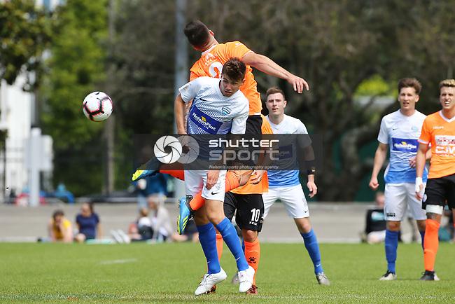 NELSON, NEW ZEALAND - OCTOBER 28: ISPS Handa Premiership Tasman United v Hamilton Wanderers Trafalgar Park on October 28 2018 in Nelson, New Zealand. (Photo by: Evan Barnes Shuttersport Limited)