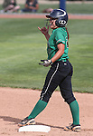 Rancho's Kat Anthony celebrates a double against Reed during NIAA DI softball action at the University of Nevada, in Reno, Nev., on Thursday, May 19, 2016. Cathleen Allison/Las Vegas Review-Journal