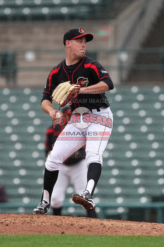 Rochester Red Wings closer J.R. Graham (39) throws a pitch against the Scranton Wilkes-Barre Railriders on May 1, 2016 at Frontier Field in Rochester, New York. Red Wings won 1-0.  (Christopher Cecere/Four Seam Images)