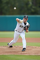 Army Black Knights starting pitcher Matt Ball (34) delivers a pitch to the plate against the North Carolina State Wolfpack at Doak Field at Dail Park on June 3, 2018 in Raleigh, North Carolina. The Wolfpack defeated the Black Knights 11-1. (Brian Westerholt/Four Seam Images)