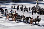 Madrid, (24/10/10).- Carruaje en e patio de El Palacio Real.....King Juan Carlos I of Spain presided the Credential Cards giving to diplomatics in Spain...Photo: Alex Cid-Fuentes / ALFAQUI