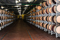 Stellenbosch is situated about 50 km east of Cape Town, South Africa. A visit at one of the many Wineries in this region. Wine barrels.