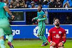 FC Barcelona's forward Leo Messi celebrates after scoring a goal during the match of La Liga between Deportivo Alaves and Futbol Club Barcelona at Mendizorroza Stadium in Vitoria, Spain. February 11, 2017. (ALTERPHOTOS/Rodrigo Jimenez)