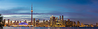 60912-00313 Toronto skyline at dusk from Toronto Island Park Toronto, Ontario Canada
