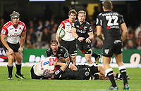 Michael Claassens of the Cell C Sharks during the Vodacom Super Rugby match between the Cell C Sharks and the Emirates Lions the at Growthpoint Kings Park in Durban, South Africa. 15th July 2017(Photo by Steve Haag)