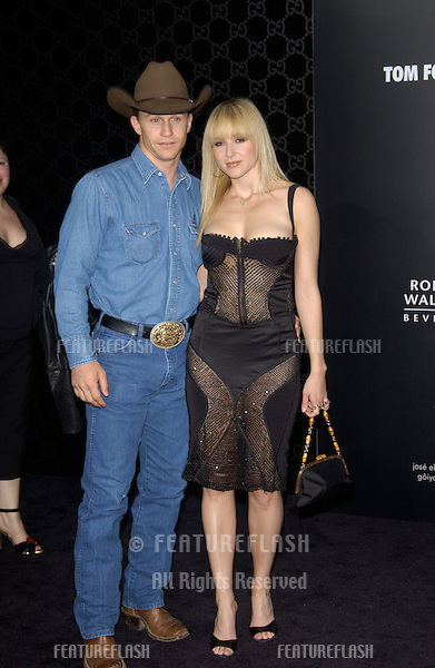 Singer JEWEL & boyfriend TY MURRAY at the Rodeo Drive Walk of Style Gala honoring Gucci's Tom Ford..March 28, 2004