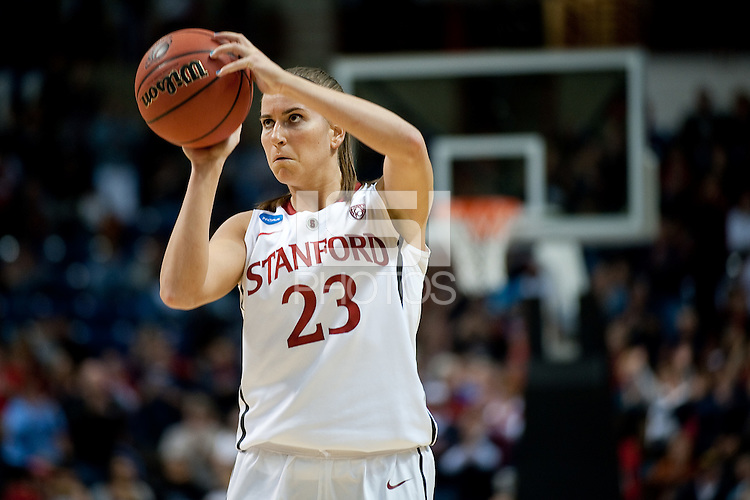SPOKANE, WA - MARCH 26, 2011: Jeanette Pohlen, Stanford Women's Basketball vs University of North Carolina, NCAA West Regionals on March 26, 2011.
