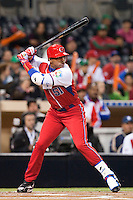 16 March 2009: #51 Yoennis Cespedes of Cuba is seen at bat during the 2009 World Baseball Classic Pool 1 game 3 at Petco Park in San Diego, California, USA. Cuba wins 7-4 over Mexico.