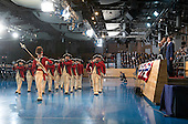 The Old Guard Fife and Drum Corp. preforms for United States President Barack Obama during his Armed Forces Full Honor Review Farewell Ceremony at Joint Base Myers-Henderson Hall, in Virginia on January 4, 2017. The five braces of the military honored the president and vice-president for their service as they conclude their final term in office. <br /> Credit: Kevin Dietsch / Pool via CNP