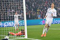 joie de Cristiano Ronaldo (Real Madrid) apres le but de Casemiro (Real Madrid) <br /> Parigi 07-03-2018 Allianz Arena <br /> Paris Saint Germain - Real Madrid Quarti di finale ritorno Champions League 2017/2018<br /> Foto Panoramic / Insidefoto
