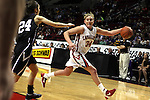 03/11/11--Clackamas' Jen Reese chases down a ball in the semifinals of the 6A girls state championship at the Rose Garden in Portland, Or. The Cavaliers advanced to the championship with a score of 46-35...Photo by Jaime Valdez......................................