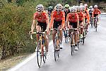 Euskaltel-Euskadi lead the peloton during the stage of La Vuelta 2012 beetwen La Faisanera Golf (Segovia)-La Bola del Mundo.September 8,2012. (ALTERPHOTOS/Paola Otero)