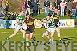 Dr Crokes Daithi Casey shoots for goal  in Dungarvan on Sunday against Ballinacourty