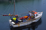 AE2KX5 Fishing boat Porthleven harbour  Cornwall England