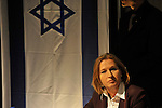 Israel's Foreign Minister and Kadima party cadidate Tzipi Livni, at a conference in Tel Aviv, Israel, Thursday February 5, 2009 (Photo by Ahikam Seri).