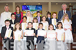 Pupils from Abbeydorney and Killahan NS who made their Holy Communion in St Bernards Church, Abbeydorney on Saturday with the pupils were, their teachers Norma Shanahan (Abbeydorney) and Gerard Doyle Killahan and Fr Jack Fitzgerald, Pupils: Abbeydorney : Stephen Moore, Fiona Kendzaia, Andy Ryall, Grace Fitzmaurice, Jamie Herbert, Mary O'Mahony, Eoin O'Connell, Oliver Hart, Doireann Thomas, Emma Carmody and Karen Nolan, KIllahan NS Pupils, Linda Fitzgerald-Scanlon, Rachel Conway, James Rigney and Denis Costello................................... ....