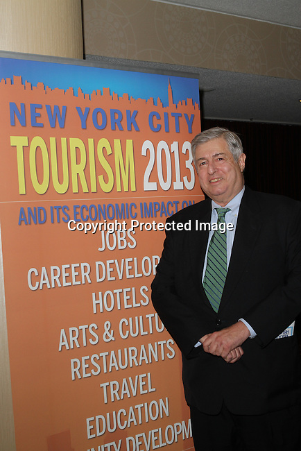 Zagat Guides Founder and NY State Tourism Advisory Council Chairman Tim Zagat  Attends The Greater Harlem Chamber of Commerce and its media partners WBLS-FM and New York Amsterdam News presents: New York City Tourism 2013, Hosted by NYC & CO, Marriott, Harlem Arts Alliance and I LOVE NY Held at the Marriott Marquis Hotel, NY