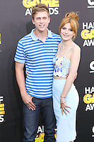 SANTA MONICA, CA, USA - FEBRUARY 15: Tristan Klier, Bella Thorne at the 4th Annual Cartoon Network Hall Of Game Awards held at Barker Hangar on February 15, 2014 in Santa Monica, California, United States. (Photo by David Acosta/Celebrity Monitor)