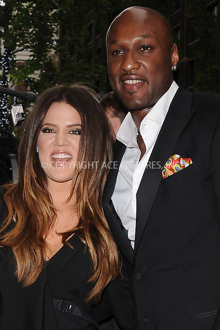 WWW.ACEPIXS.COM . . . . . .April 30, 2012...New York City....Khloe Kardashian Odom and Lamar Odom arriving to attend the E! 2012 Upfront at Gotham Hall on April 30, 2012  in New York City ....Please byline: KRISTIN CALLAHAN - ACEPIXS.COM.. . . . . . ..Ace Pictures, Inc: ..tel: (212) 243 8787 or (646) 769 0430..e-mail: info@acepixs.com..web: http://www.acepixs.com .