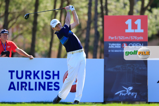 Paul LAWRIE (SCO) during round 2 of the Turkish Airlines Open presented by the Ministry of Tourism and Culture, hosted at the The Montgomerie Maxx Royal,Antalya,Turkey.<br /> Picture: Fran Caffrey www.golffile.ie