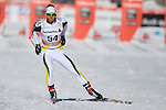Francois Vierin in action at the sprint qualification of the FIS Cross Country Ski World Cup  in Dobbiaco, Toblach, on January 14, 2017. Credit: Pierre Teyssot