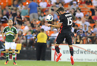 Washington, D.C. - Saturday, August 13, 2016: D.C. United defeated the Portland Timbers  2-0 in a MLS match at RFK Stadium.