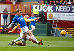 07.04.2019 Motherwell v Rangers: Scott Arfield scores his first goal of the match