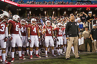Stanford, Calif - September 12, 2015: The Stanford Cardinal defeats the UFC Knights 31-7 at Stanford Stadium.