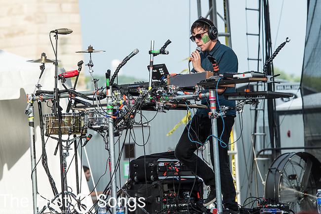 Robert Delong performs at the 2014 Bunbury Music Festival in Cincinnati, Ohio