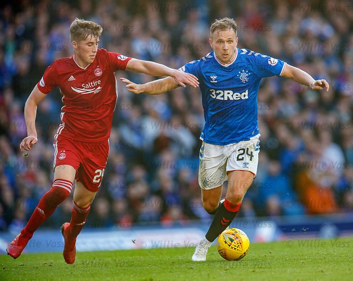 28.09.2018 Rangers v Aberdeen: Dean Campbell and Greg Stewart
