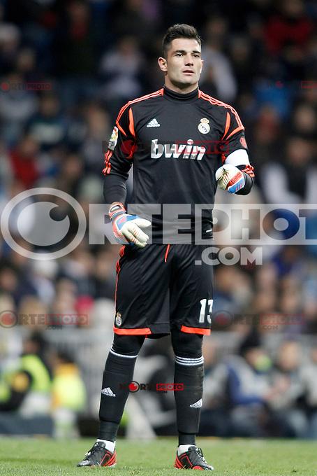 Real Madrid's Antonio Adan during Spanish King's Cup match.November 27,2012. (ALTERPHOTOS/Acero) /NortePhotoMx