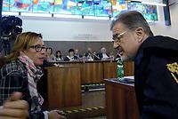 Roma, 24 Ottobre 2018<br /> Fabio Anselmo, Ilaria Cucchi.<br /> Processo Cucchi Bis contro 5 Carabinieri accusati della morte di Stefano Cucchi