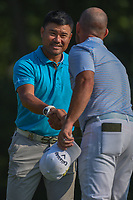 Yusaku Miyazato (JAP) shakes hands following 2nd round of the 100th PGA Championship at Bellerive Country Club, St. Louis, Missouri. 8/11/2018.<br /> Picture: Golffile | Ken Murray<br /> <br /> All photo usage must carry mandatory copyright credit (© Golffile | Ken Murray)