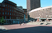 Boston:  City Hall Plaza--Sears Crescent, 1816; 1850-60: Subway entrance.  Urban Design;  I.M. Pei & Partners, 1964.