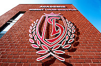 The Academie Robert Louis-Dreyfus training complex from the Royal Standard de Liège football club (Belgium, 16/03/2012)