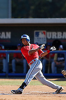 Chris Rivera participates in the Jesse Flores All Star Game at the Urban Youth Academy on November 4, 2012 in Compton, California. (Larry Goren/Four Seam Images)