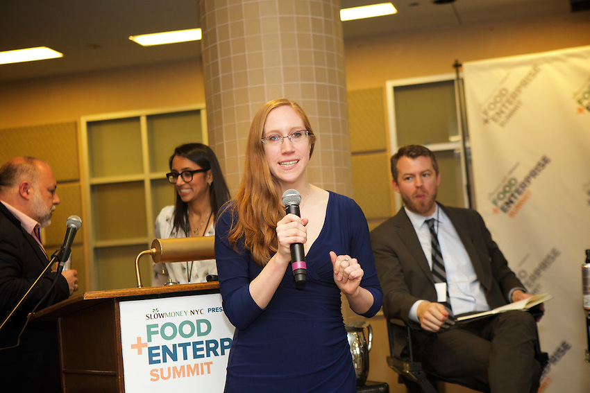 BROOKLYN, NY - April 9, 2016: The fifth annual Food + Enterprise Summit took place at the former Pfizer plant in Bedford-Stuyvesant.<br /> <br /> CREDIT: Clay Williams.<br /> <br /> &copy; Clay Williams / claywilliamsphoto.com